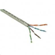 UTP kabel PlanetElite, Cat5E, drát, PVC, šedý, 100m