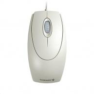 CHERRY myš Wheel, USB, adaptér na PS/2, drátová, šedá