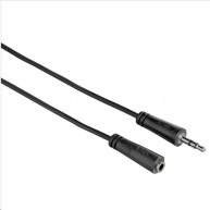Hama predlžovací audio kábel jack 3,5 mm stereo, 1*, 5 m
