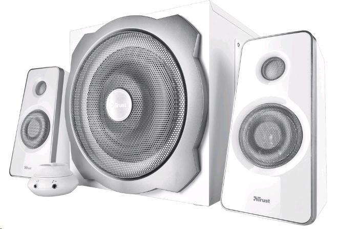 TRUST Reproduktory 2.1 Tytan Subwoofer Speaker Set - white, bílá