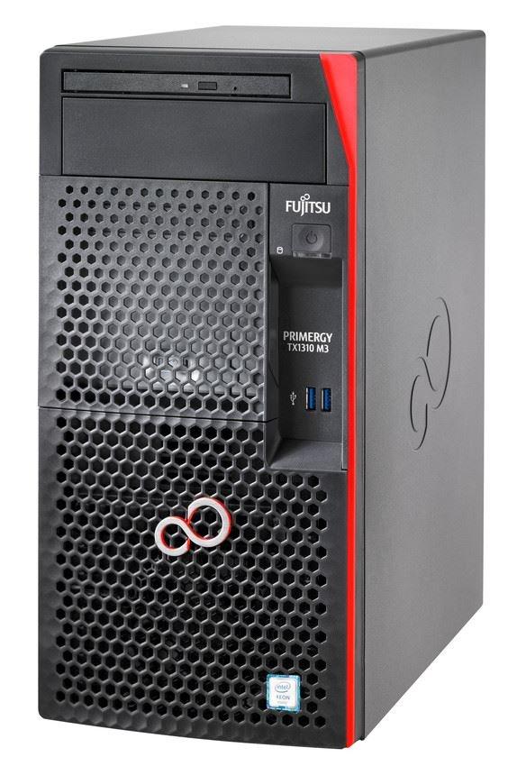 FUJITSU SRV TX1310M3 - E3-1225v6@3.3GHz, 8GB, DVDRW, 2x1TB, RAID 0,1 on b, 4xBAY3.5 SS, Display port, 250W TOWER