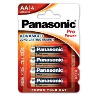 PANASONIC Alkalické baterie Pro Power LR6PPG/4BP AA 1,5V (Blistr 4ks)