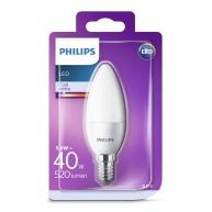PHILIPS LED žárovka svíčková B35 230V 5,5W E14 noDIM Matná 520lm 4000K Plast A+ 15000h (Blistr 1ks)