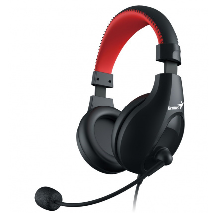 GENIUS sluchátka s mikrofonem HS-520, černá