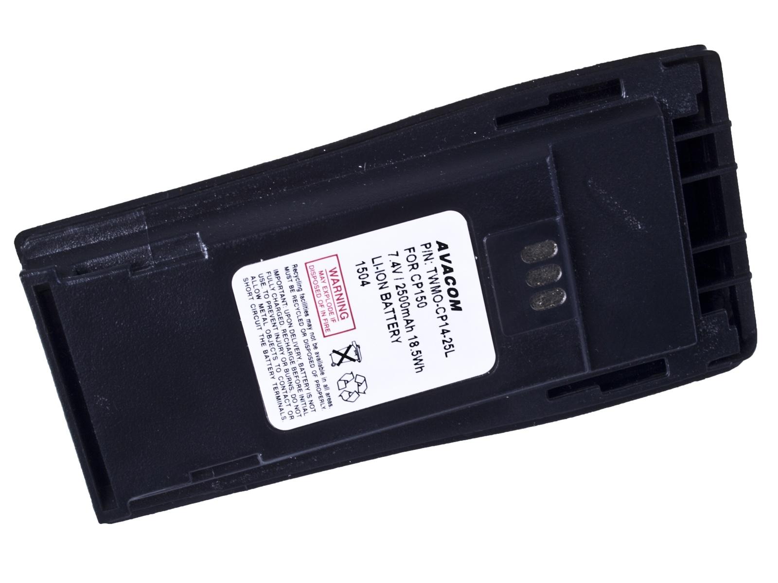 AVACOM baterie pro radiostanice Motorola CP040, CP140, CP150, CP250 Li-Ion 7.4V 2500mAh