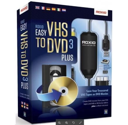 Roxio Easy VHS to DVD 3 Plus BOX - jazyk EN/FR/DE/ES/IT/NL