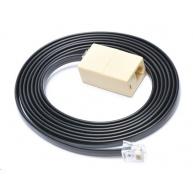 Virtuos prodlužovací kabel 6P6C-24V pro pokladní zásuvky,2m,černý