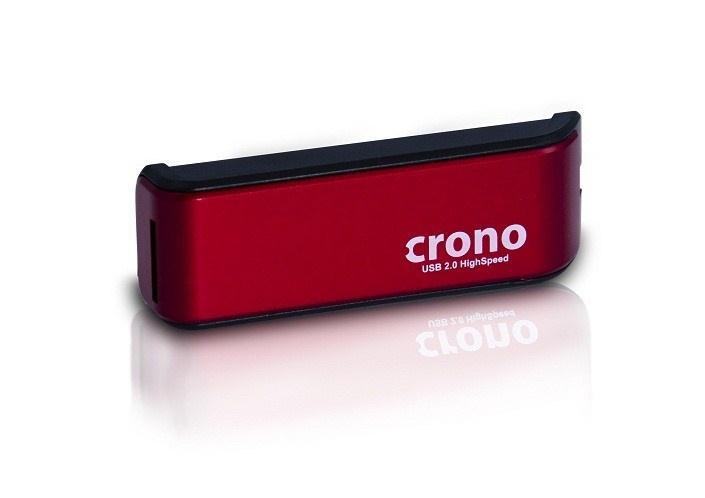 CRONO externí čtečka karet, červená