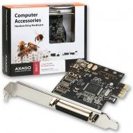 AXAGON PCEA-P1, PCIe adaptér - 1x paralelní port (LPT), vč. LP