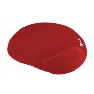 C-TECH Podložka pod myš gelová MPG-03, červená, 240x220mm