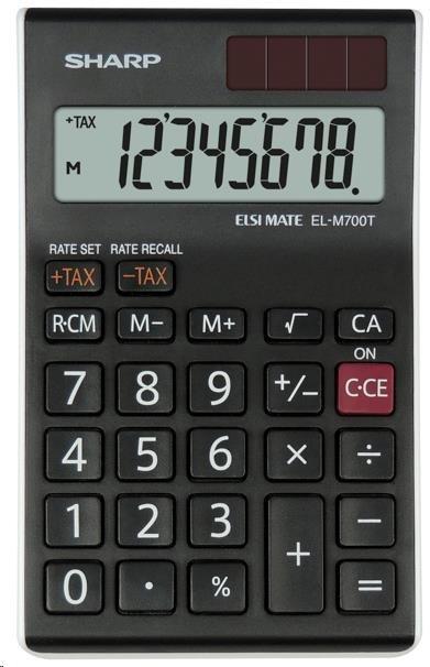 SHARP kalkulačka - EL-M700TWH - černá