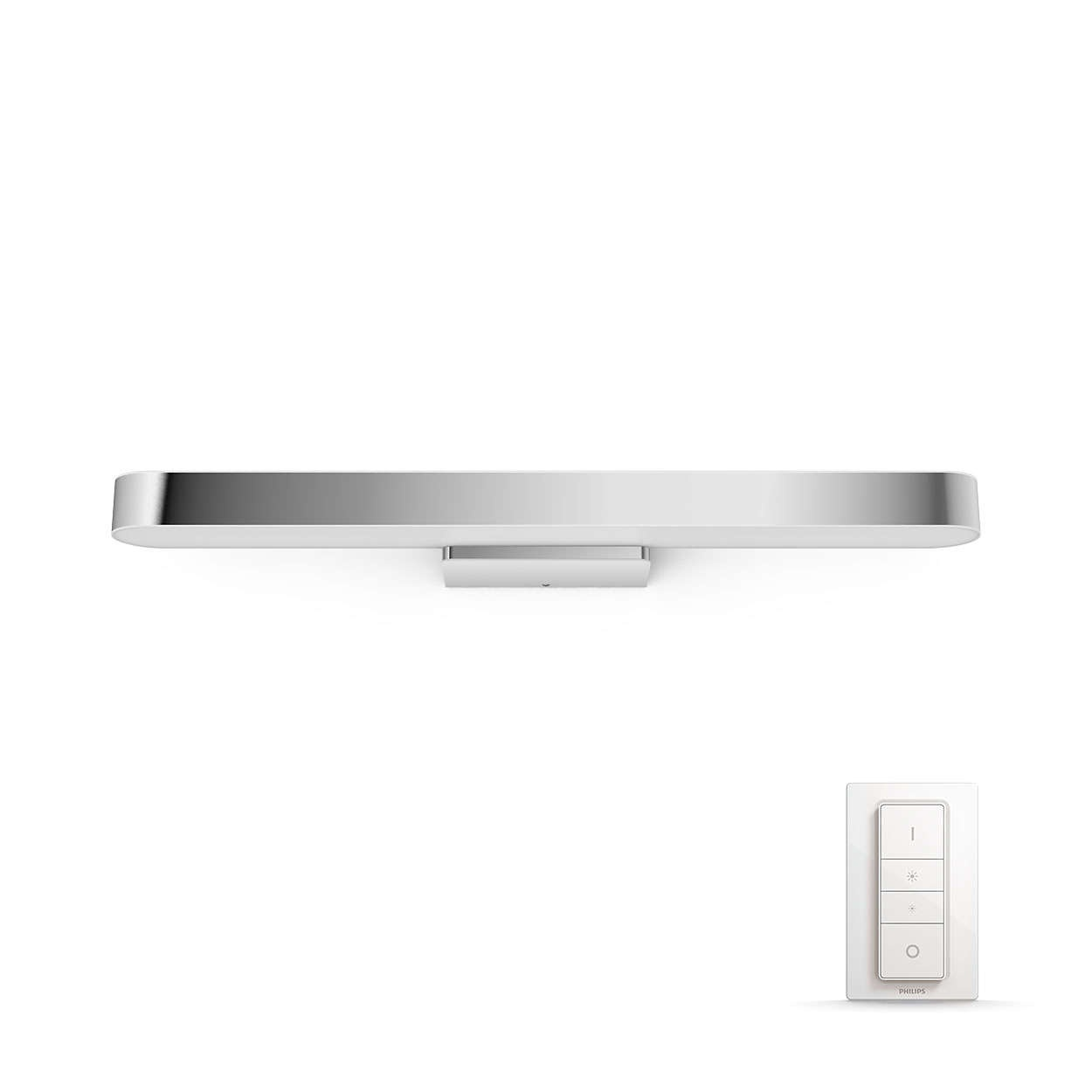 PHILIPS Adore Nástěnné svítidlo, Hue White ambiance, 230V, 1x40W integr.LED, Chrom