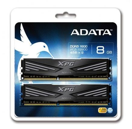 DIMM DDR3 8GB 1600MHz CL9 (KIT 2x4GB) ADATA XPG V1.0 Black, 512x8, Retail
