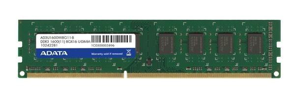 DIMM DDR3 8GB 1600MHz CL11 512x8 ADATA, bulk