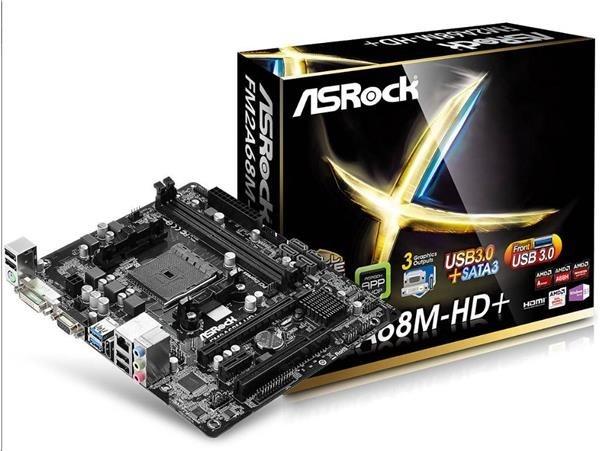 ASRock MB Sc FM2+ FM2A68M-HD+, AMD A68, 2xDDR3, VGA, mATX