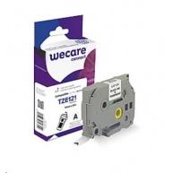 WECARE páska pro BROTHER TZE121,  Black/Transparent, 9mm x 8m