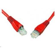 Solarix Patch kabel CAT5E UTP PVC 0,5m červený snag-proof C5E-114RD-0,5MB