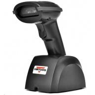 Virtuos CCD čtečka Virtuos HW-310A, USB,  bezdrátová, základna, černá (dosah až 200m)