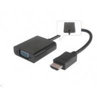 PREMIUMCORD Převodník HDMI na VGA se zvukem (3,5mm jack)