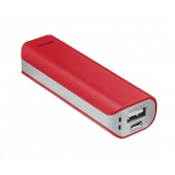 TRUST Primo PowerBank 2200 Portable Charger, red