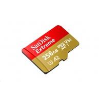 SanDisk Extreme microSDXC 256GB - 160MB/s R/90MB/s W, A2 C10 V30 UHS-I, Adapter