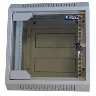 """LEXI 10"""" nástěnný rozvaděč 6U, šířka 310mm, hloubka 260mm, skleněné dveře, svařovaná konstrukce, šedý"""