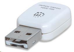 MANHATTAN Wireless Mini N300 USB Adapter, 802.11n