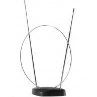 Interiérová anténa SV1200, UHF, DVB-T/DVB-T2, poloměr 5 km od nejbližšího vysílače