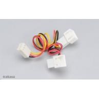 AKASA kabel  rozdvojka napájení 3pin fan na 2x 3pin