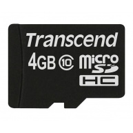 TRANSCEND MicroSDHC karta 4GB Class 10, bez adaptéru
