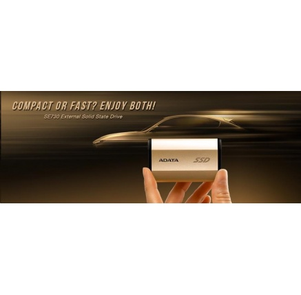 ADATA External SSD 256GB ASE730 USB 3.1 gold