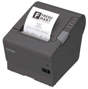EPSON TM-T88V pokladní tiskárna, USB + serial, černá, se zdrojem
