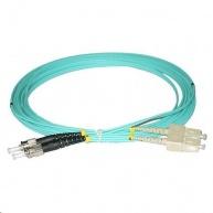 Duplexní patch kabel MM 50/125, OM3, ST-SC, LS0H, 3m