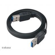AKASA kabel PROSLIM USB, male A na A male USB 3.0, 150cm, černý