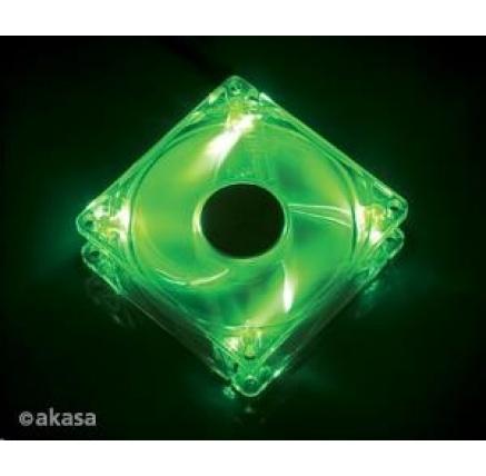 AKASA Ventilátor Bright Green, 120 x 25mm, kluzné ložisko, tichý