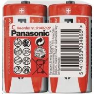 PANASONIC Zinkouhlíkové baterie - Red Zinc C 1,5V - 2ks