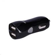 Solight USB nabíjecí autoadaptér, 2x USB, 3400mA max., DC 12-24V, bílošedivý