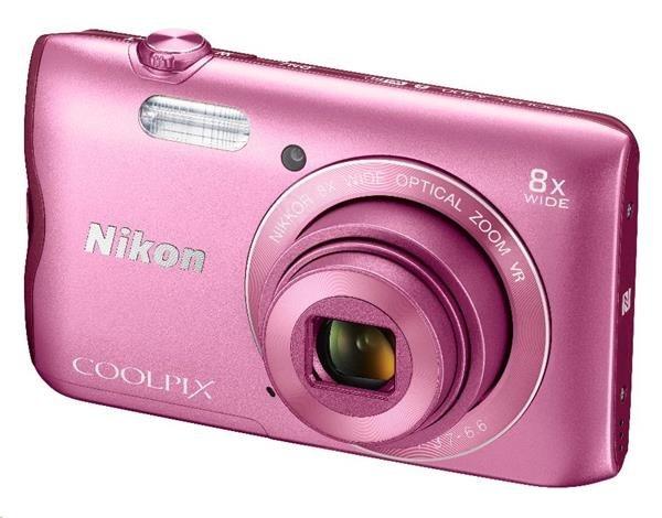 Nikon kompakt Coolpix A300, 20.1MPix, 8x zoom - růžový