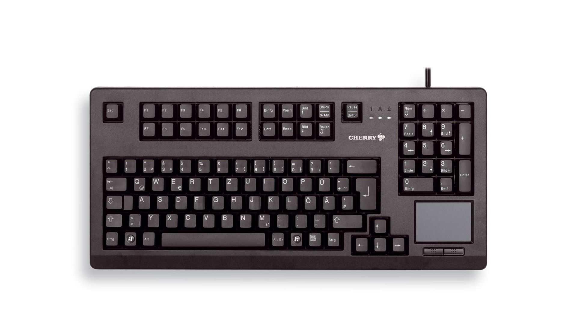 CHERRY klávesnice G80-11900 / touchpad / drátová / USB 2.0 / černá / EU layout
