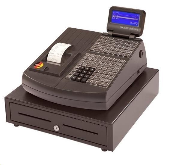 Quorion registrační pokladna QMP 2144 2XRS/USB/LA/LCK černá + EET Box