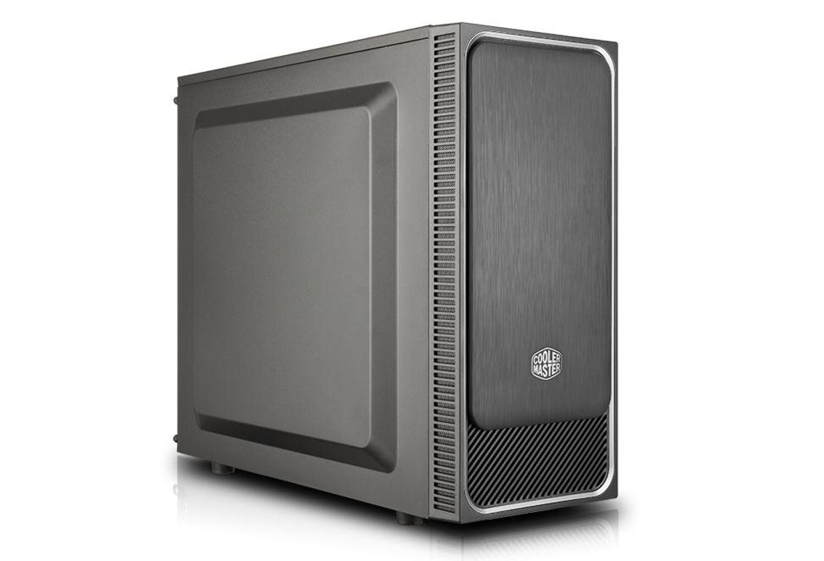 case Cooler Master MasterBox E500L, stříbrný rámeček, ATX, 2x USB 3.0, bez zdroje