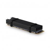 AXAGON CLR-M2L10, hliníkový pasivní chladič pro M.2 2280 SSD, výška 10 mm