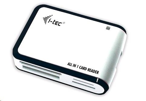 iTec USB 2.0 All-in One reader - White/Silver