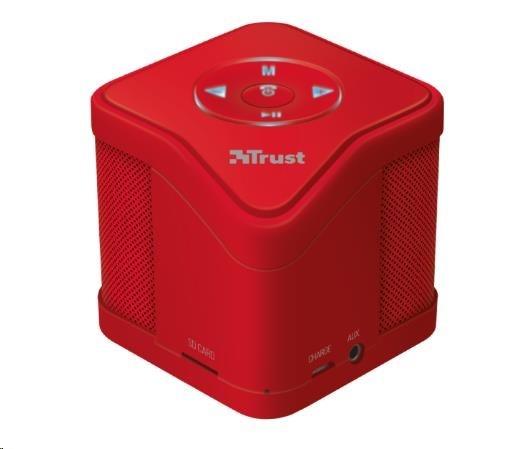 TRUST Muzo Wireless Bluetooth Speaker - red