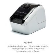 BROTHER tiskárna štítků QL-800 - 62mm, termotisk, USB, Profesionální Tiskárna Štítků