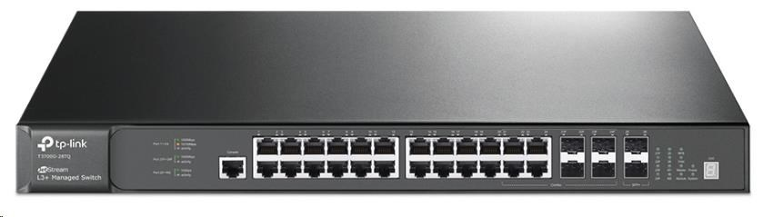 TP-Link T3700G-28TQ JetStream 28-Port Gigabit Stackable L3 Managed Switch