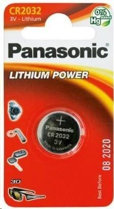 PANASONIC Mincové (knoflíkové) baterie - lithiové CR-2032EL/1B  3V 1ks