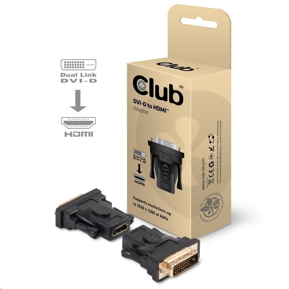 Club-3D DVI-D (24+1 PIN) MALE TO HDMI 1.3 FEMALE