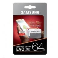 Samsung Micro SDXC karta 64GB EVO Plus (Class 10 UHS-3) + SD adaptér