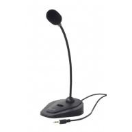 GEMBIRD mikrofon na stůl MIC-D-01 s vypínačem, černý